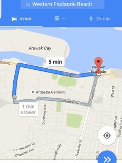 Map to Western Esplanade
