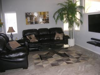 Living Area with 55: flat screen Smart TV with drect tv cable