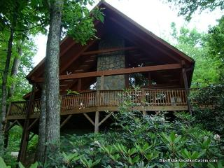 Cozy Private Valle Crucis Log Cabin*Firepit*HotTub