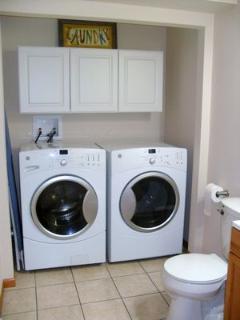 Laundry and 1/2 bath on main floor