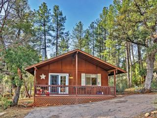 New Listing! Adorable 2BR Pine Cabin in Quiet Wooded Setting w/Huge Screened-in Porch & Wood Burning Stove - Near Hiking Trails, Antiquing, Restaurants, Downtown Pine & Payson!