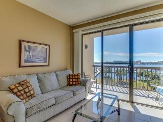 Chic studio condo with private deck, grill, & shared pool access