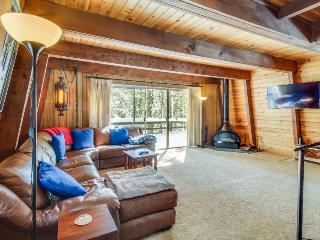 Classic dog-friendly cabin with a private beach park & docks, close to skiing!