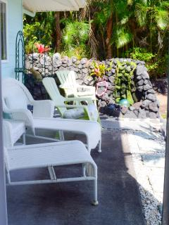 Loungers for relaxing and sunbathing