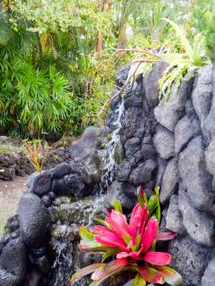 Lava rock water features