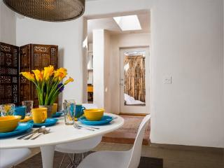 Viejo Nuevo - An Old Adobe Home with a Contemporary Update. In the heart of the Rail Yard District, Santa Fe