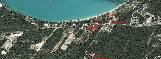 An aerial view of our properties.