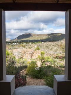Views from stoeps overlooking village of Prince Albert & Swartberg from all 4 Karoo View Cottages