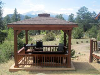 New Gazebo with spectacular view.  Comfortable seating for 6.