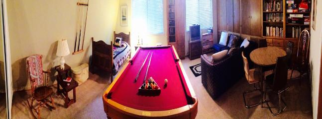 Wide angle view of the game room.
