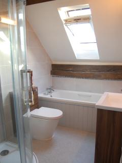 Bright sleek new bathroom