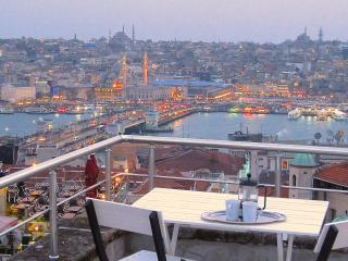 next to galata tower, views from shared terrace, Istanbul