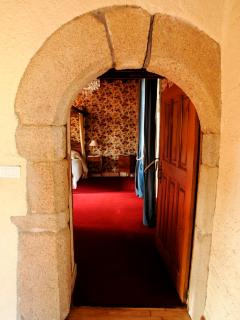 Original stone entrance to the master bedroom