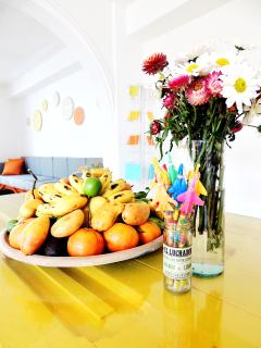 La salle-à-manger citron