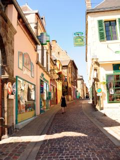 Part of Domfront's Medieval quarter. Great for shopping and local restaurants.