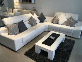 Lounge Area, with LargeReclining Corner Sofa