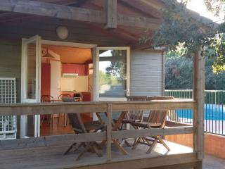 Chalet climatise dans residence securisee