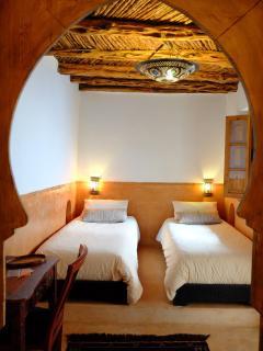 en-suite twin bedroom on the second floor