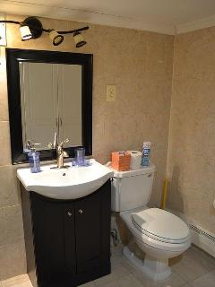 Bathroom. Sink and toilet pictured.