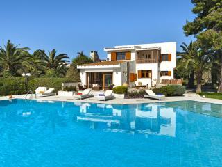 Beachfront Villa Pasithea, pool, semiprivate beach, Kosta