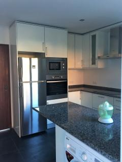 Microwave fridge freezer oven and induction hob
