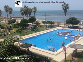 Apartamento delante del Mar, en Urb. Villa Blanca en Chipiona