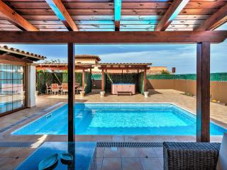 luxury villa with private pool and outdoor jacuzzi
