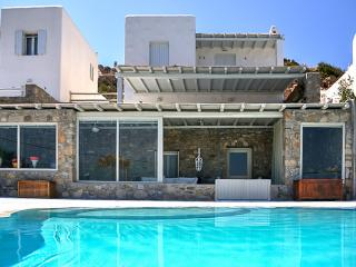 Pool relaxation with Mykonos views