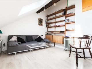 Sunny attic apt steps from Seine