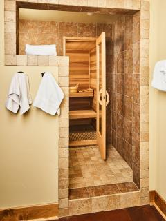 Sauna and bath by the family room