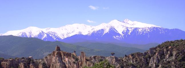 Canigou is the highest peak of the Pyrenees and may be seen from the next valley.