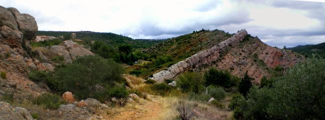 Albas adjacent to Durban-Corbieres has incredible geology.