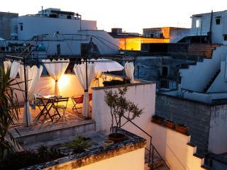 La terrazza solarium ad esclusivo uso degli ospiti