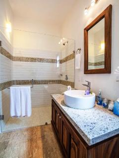Small casita bathroom
