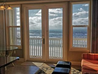 New Beachfront Condo with 10' ceilings & King bed