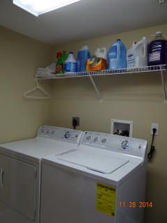 Washer and Dryer inside the condo