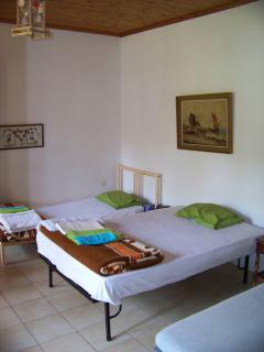 double bed in big bedroom