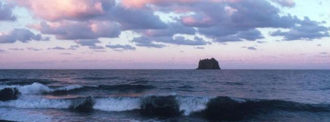 la spiaggia e vista su strombolicchio