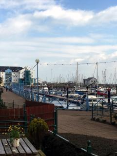 View of the Marina from front garden area