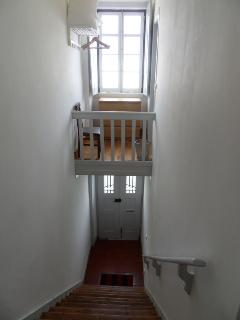 staircase for upstairs apartment