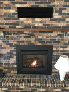 Beautiful gas fireplace