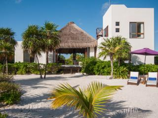 Luxury beachfront villa in Sian Kaan, Tulum