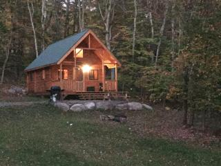 log cabin in the woods of the Pocono mountains, Blakeslee