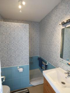 Bathroom with shower, wc and washing machine