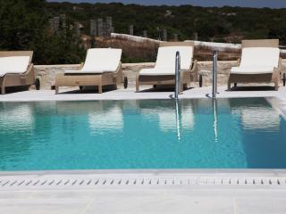 Blue Villas   Margot   Naxos view, Pool terrace, Ampelas