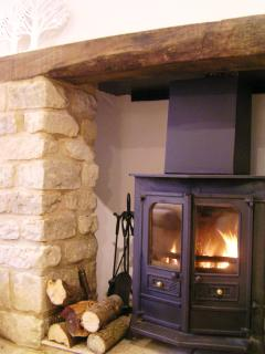 Inglenook fireplace for chillier days