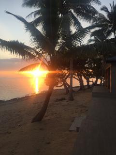 Sunset off the beachfront