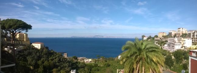 Amazing view from the roof. Gulf of Naples.