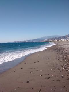 The nearest beach (4km)