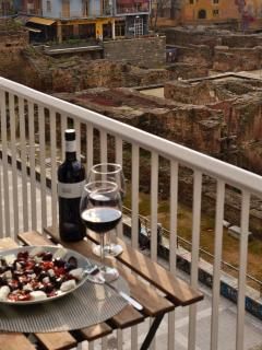 Perfect spot for breakfast or wine , enjoy sunset , and the archeological site day and night...